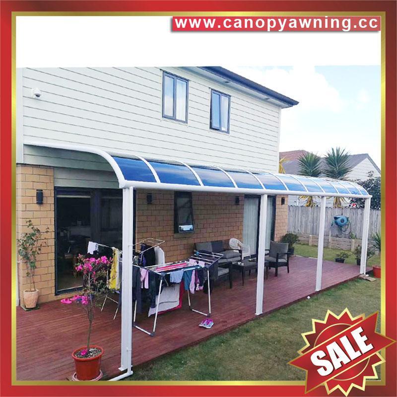 别墅房屋露台阳台天台门窗铝合金铝制金属PC板遮雨阳棚蓬篷 4