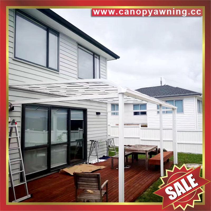 别墅房屋露台阳台天台门窗铝合金铝制金属PC板遮雨阳棚蓬篷 1
