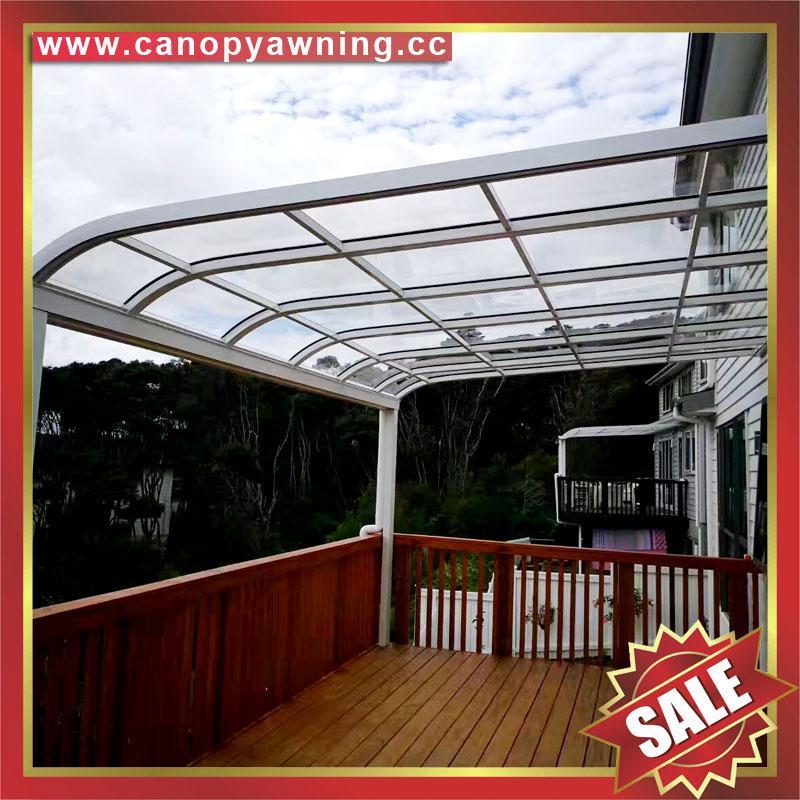别墅房屋露台阳台天台门窗铝合金铝制金属PC板遮雨阳棚蓬篷 5