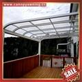 別墅房屋露台陽台天台門窗鋁合金鋁制金屬PC板遮雨陽棚蓬篷 5