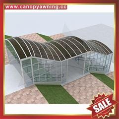 专业定制过道走廊楼梯铝合金PC板雨棚遮阳棚雨阳蓬挡雨篷