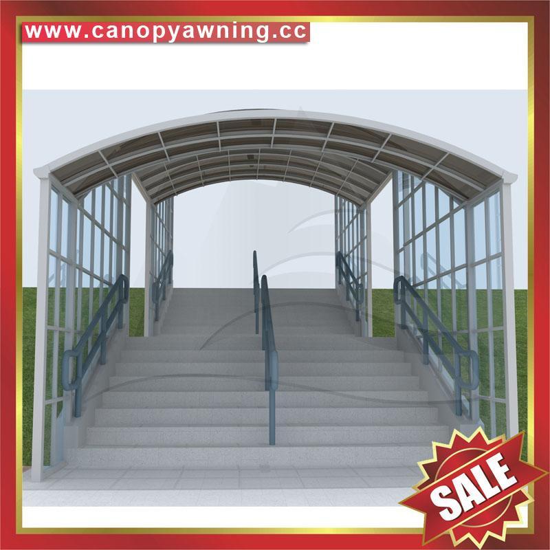 專業定製過道走廊樓梯鋁合金PC板雨棚遮陽棚雨陽蓬擋雨篷 5