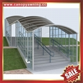 prefabricated stairway staircase polycarbonate aluminum canopy awning shelter 6