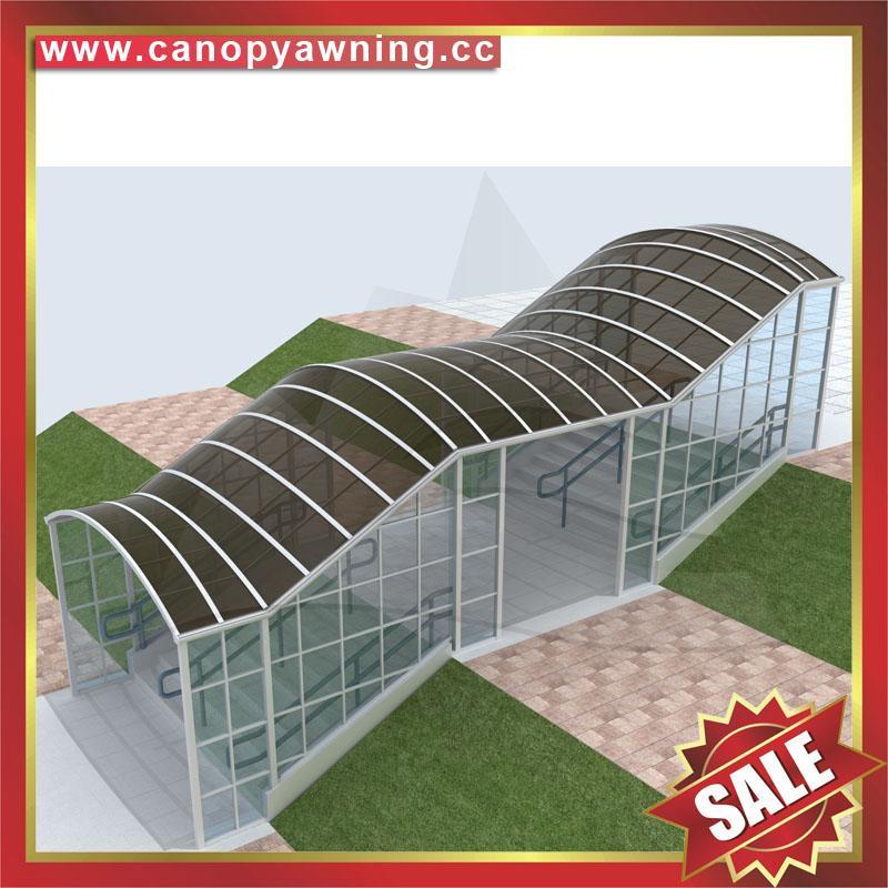 過道走廊鋁合金遮陽雨篷棚蓬廠家