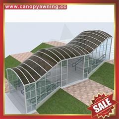樓梯走廊過道門廊人行道鋁合金鋁制卡布隆板遮陽雨棚蓬篷