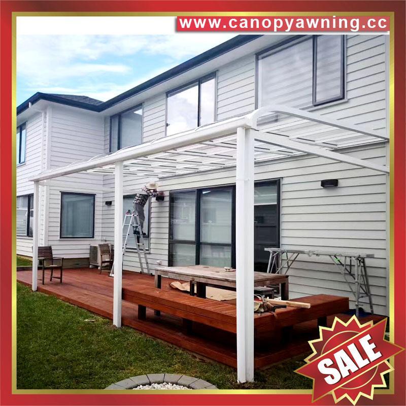 出口品质别墅露台阳台天台门窗铝合金铝制PC板遮挡阳雨棚蓬篷 2