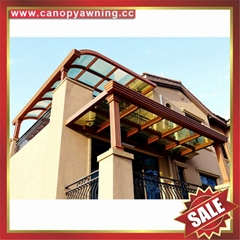 villa balcony gazebo patio porch aluminum polycarbonate canopy awning shelter