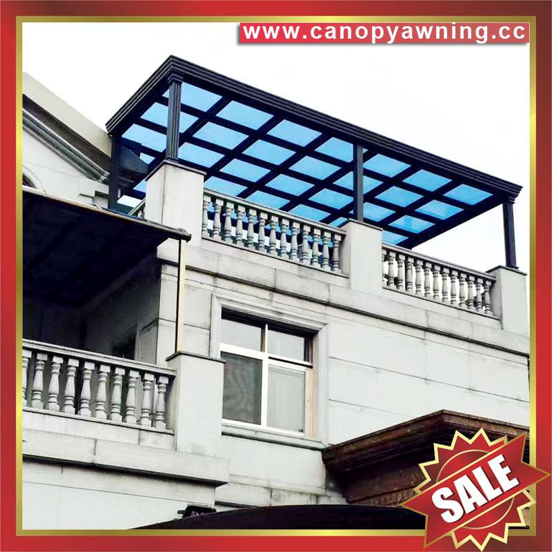 villa balcony gazebo patio porch aluminum polycarbonate canopy awning shelter 2