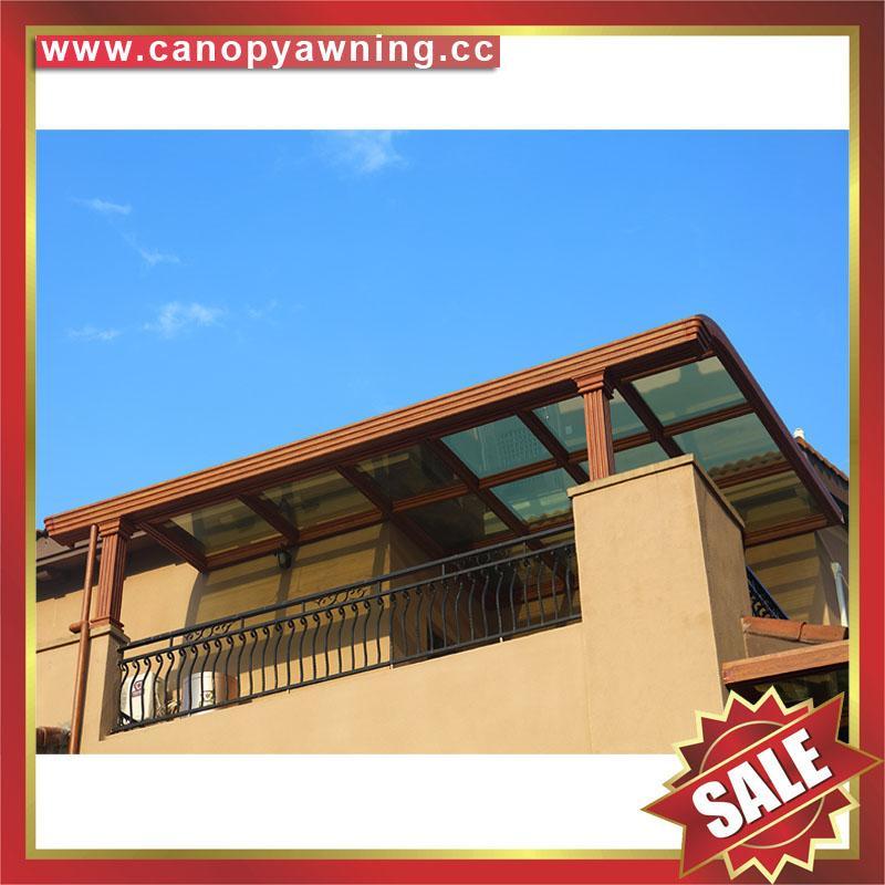 villa balcony gazebo patio porch aluminum polycarbonate canopy awning shelter 3