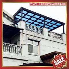 天台露台阳台钢化玻璃铝合金铝制金属遮挡雨阳棚蓬篷