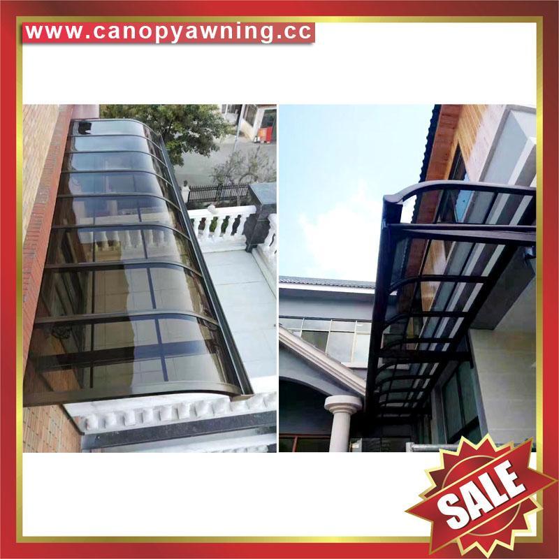 中式別墅門廊露臺鋁合金鋁制鋼化玻璃遮陽雨篷蓬棚 3