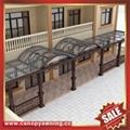 中式别墅门廊露台铝合金铝制钢化玻璃遮阳雨篷蓬棚 2