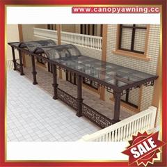 中式别墅门廊露台铝合金铝制钢化玻璃遮阳雨篷蓬棚
