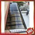 sun rain door window polycarbonate pc aluminum alloy metal canopy awning shelter 1