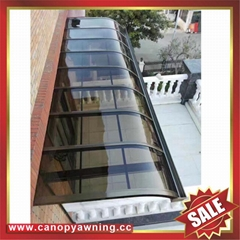 sun rain door window polycarbonate pc aluminum alloy metal canopy awning shelter