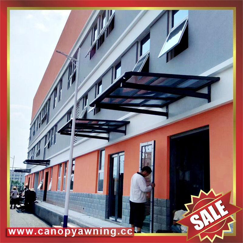 sun rain door window polycarbonate pc aluminum alloy metal canopy awning shelter 2
