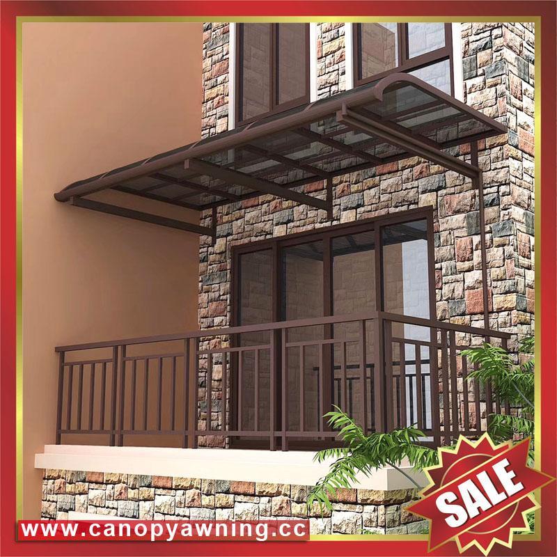 sun rain door window polycarbonate pc aluminum alloy metal canopy awning shelter 3