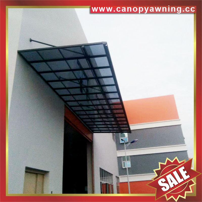sun rain door window polycarbonate pc aluminum alloy metal canopy awning shelter 4