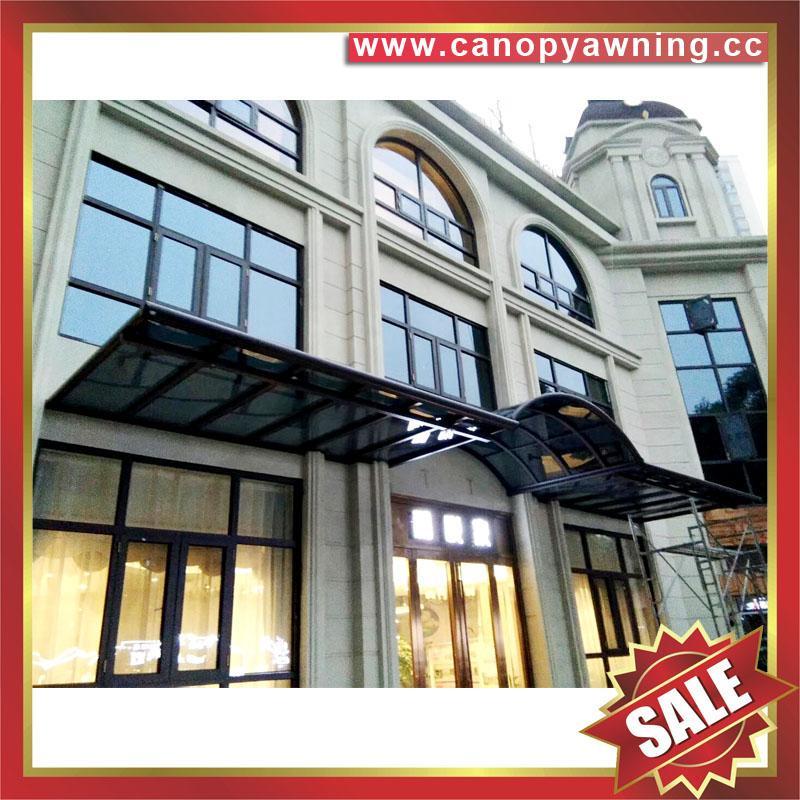 sun rain door window polycarbonate pc aluminum alloy metal canopy awning shelter 5