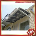sun rain door window polycarbonate pc aluminum alloy metal canopy awning shelter 6