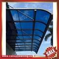 仿木紋鋁合金鋁制金屬PC耐力板陽台露台雨陽遮陽棚蓬篷 3