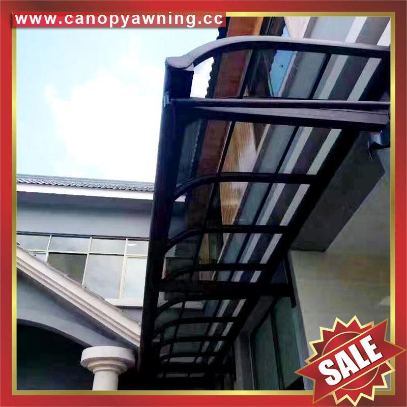 仿木紋鋁合金鋁制金屬PC耐力板陽台露台雨陽遮陽棚蓬篷 5