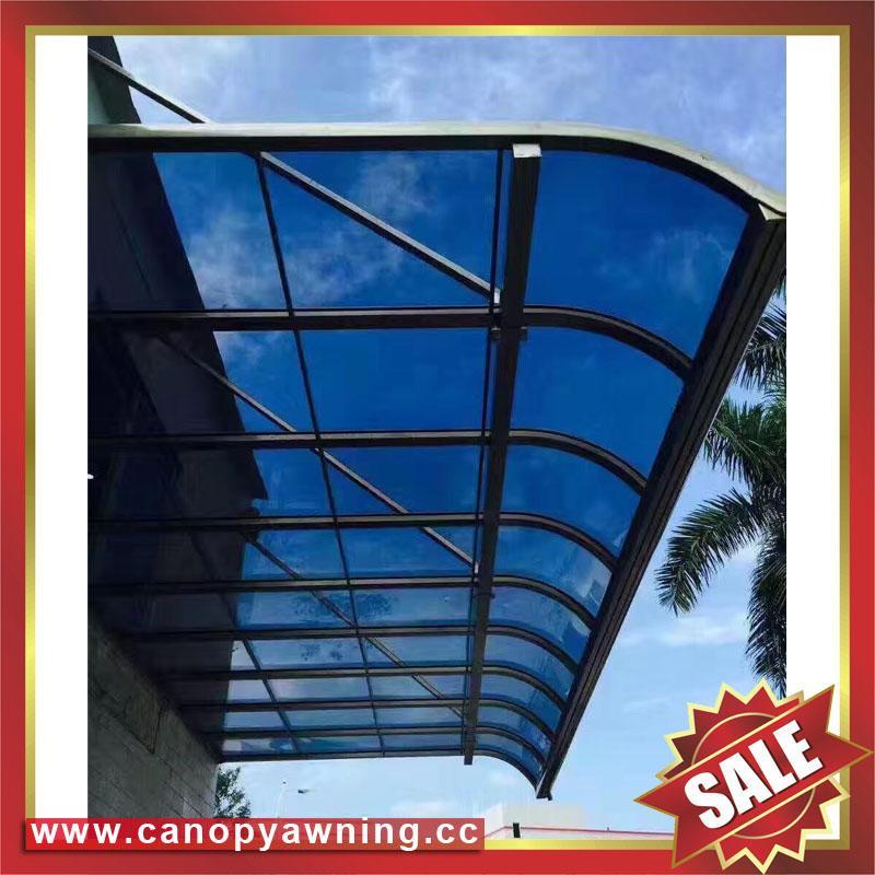 坚固耐用铝合金铝制卡布隆板阳光露台门窗雨棚雨阳篷遮阳蓬 3