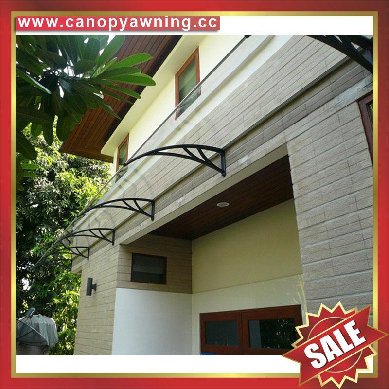DIY door window rain sun polycarbonate pc awning canopy cover sunvisor shelter 2