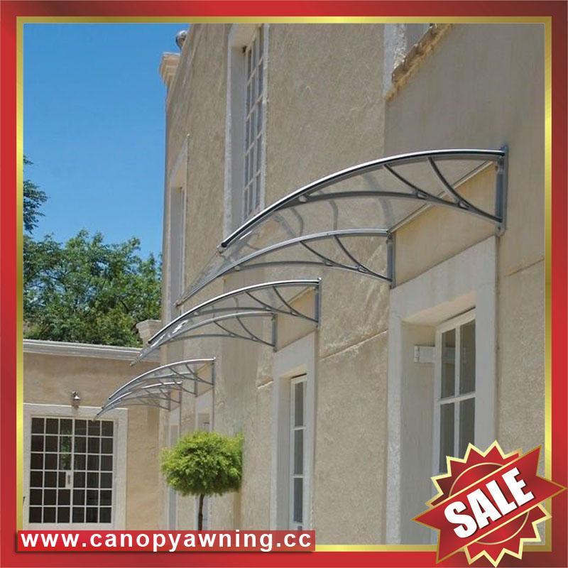 DIY door window rain sun polycarbonate pc awning canopy cover sunvisor shelter 4