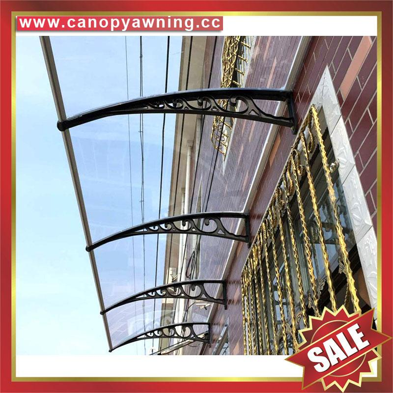 DIY door window rain sun polycarbonate pc awning canopy cover sunvisor shelter 5