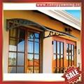 DIY door window rain sun polycarbonate pc awning canopy cover sunvisor shelter 6
