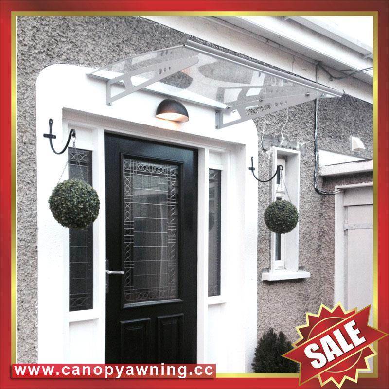 polycarbonate DIY door window pc awning canopy with aluminium alloy bracket 1