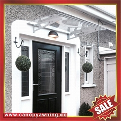 polycarbonate DIY door window pc awning canopy with aluminium alloy bracket