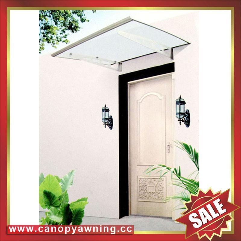polycarbonate DIY door window pc awning canopy with aluminium alloy bracket 2