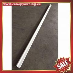 Front back Aluminium aluminum metal profile bar connector for diy canopy awning