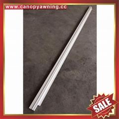 back alu aluminum profile connector bar for diy awning canopy