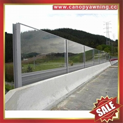 solid polycarbonate pc sheeting board sheet for high way free way sound barrier