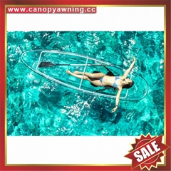 lake ocean tour fishing transparent pc polycarbonate canoe kayak boat yacht