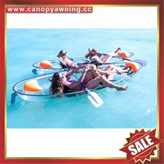 transparent two seats polycarbonate sailing sightseeing canoe kayak boat yacht