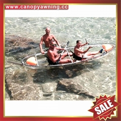 small fishing touring crystal clear pc polycarbonate canoe kayak boat yacht