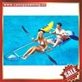 sea river sailing sightseeing tour transparent polycarbonate pc canoe kayak boat 2