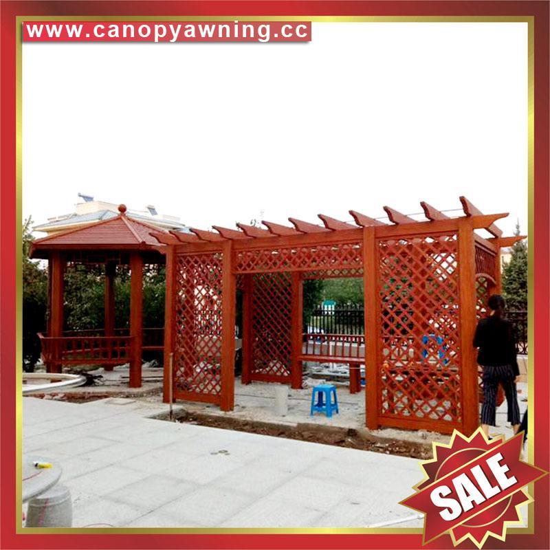 供應美觀耐用公園園林小區走廊過道裝飾遮陽鋁制鋁合金葡萄藤架 4