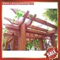 優質耐用園林公園小區走廊中式古式仿木紋金屬鋁制鋁合金葡萄架 6