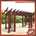 outdoor garden wood look  alu aluminum metal shelter gazebo pergola grape trellises