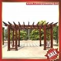 供應美觀耐用公園園林仿木紋中式隔熱遮陽鋁合金葡萄架樹藤架 3