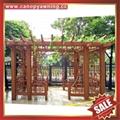 prefab public aluminium alloy metal park garden grape trellis Pergola vine grids 6