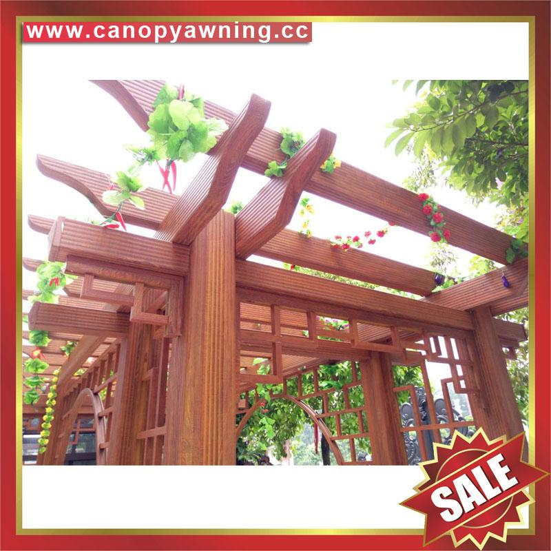 prefab public aluminium alloy metal park garden grape trellis Pergola vine grids 7