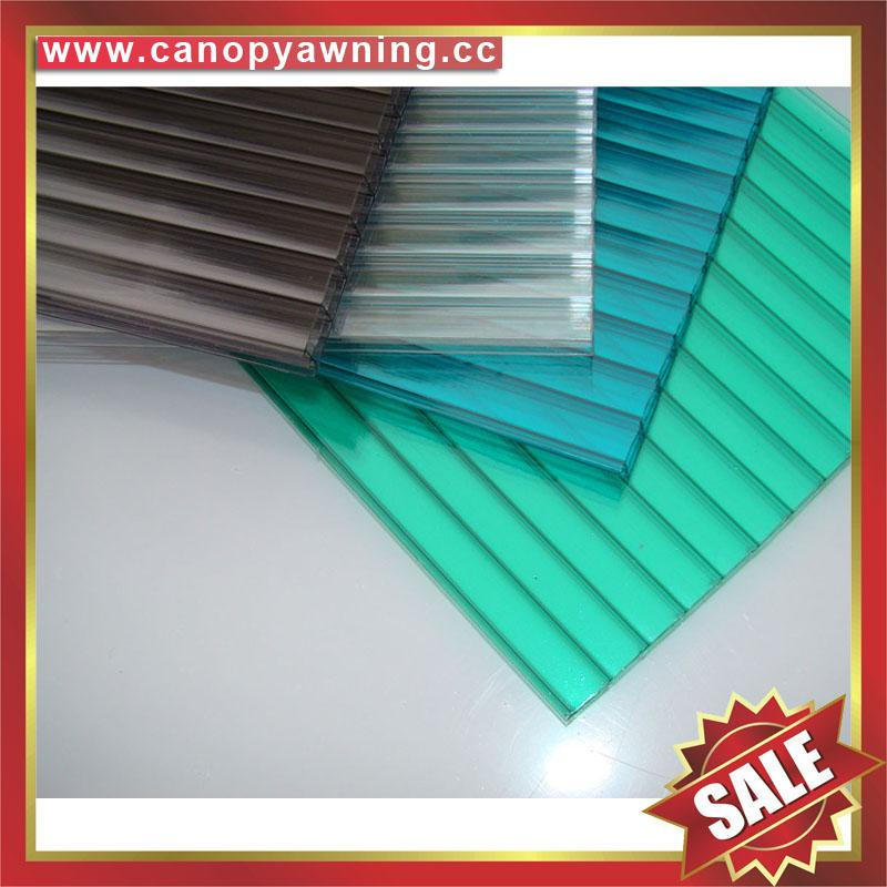honeycomb twin wall hollow pc polycarbonate roofing sheet sheeting plate panel