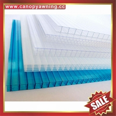 multi four wall roofing hollow polycarbonate sheet for greenhouse and building