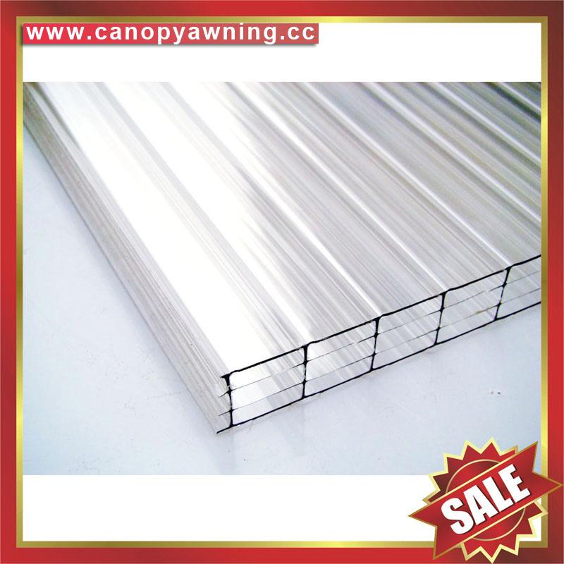 four layer wall hollow pc polycarbonate roofing sheet sheeting plate panel